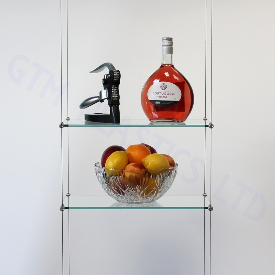 Cable Suspended Hanging Shelving Photo Gallery Throughout Suspended Glass Shelves (Image 1 of 15)