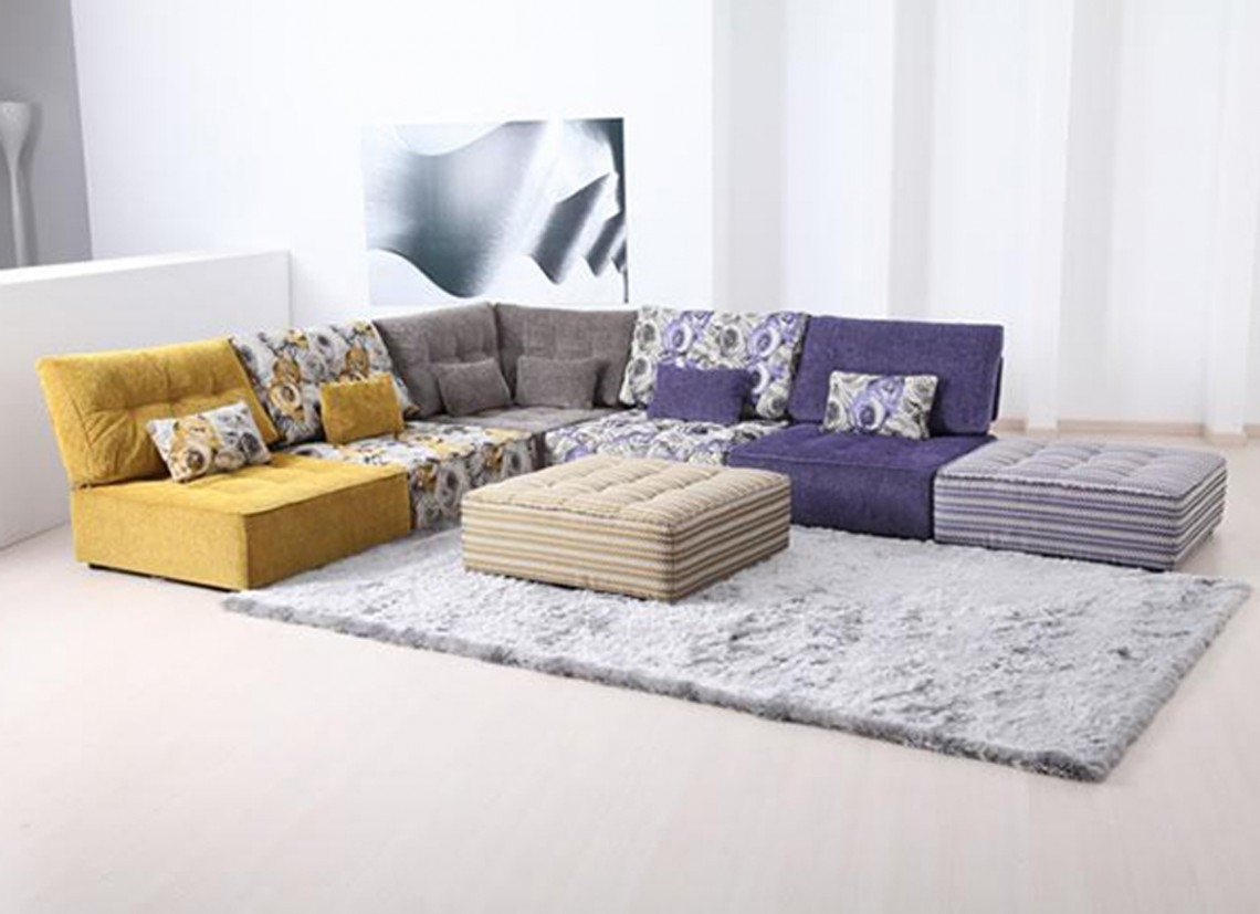 Calm Color Modern Living Room Furniture And Casual Carpet Closed For Comfortable Floor Seating (Image 1 of 15)