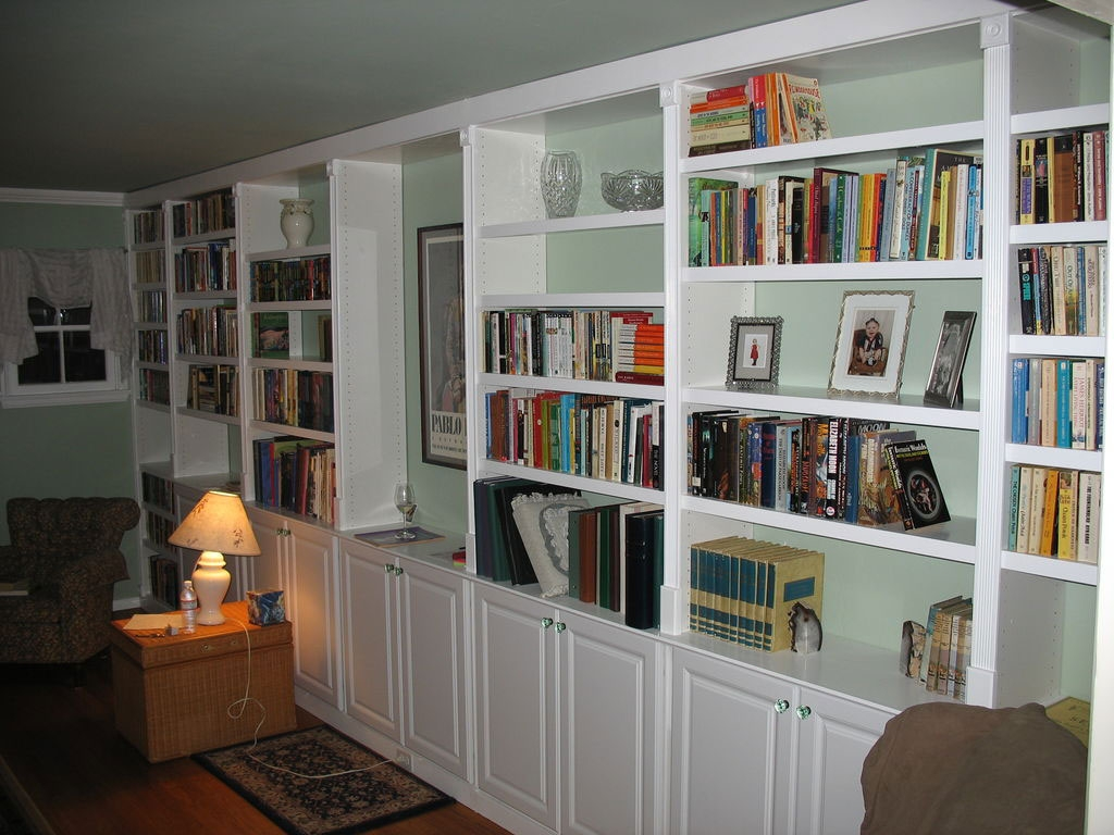 Captivating Pictures Of Book Shelves With Wooden Bookshelves And With Regard To Bookshelf With Cabinet Base (Image 8 of 15)