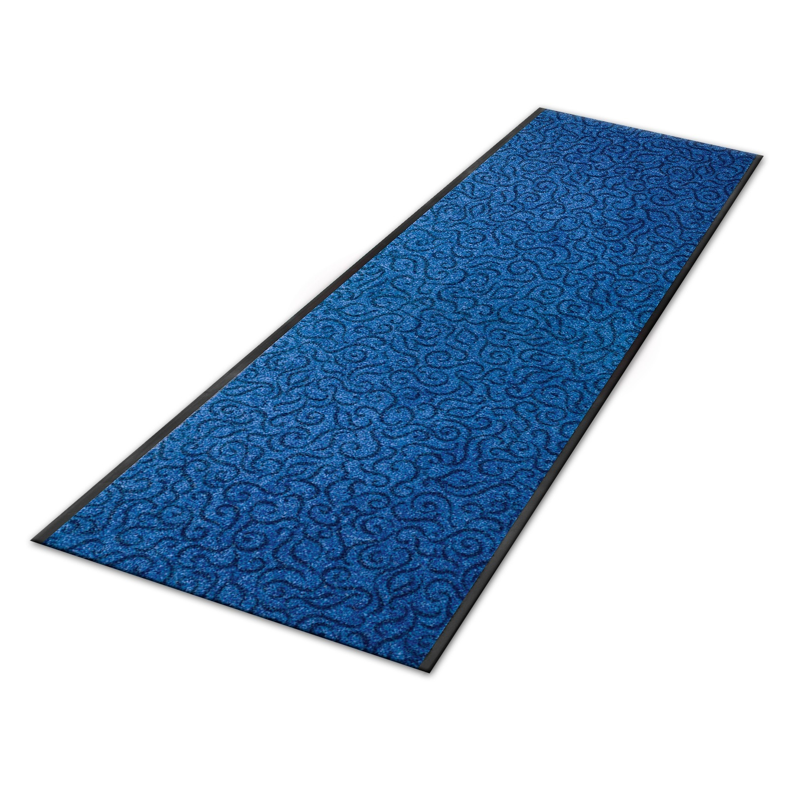 Carpet Floor Runner Brasil Design Blue Custom Size With Blue Carpet Runners (Image 8 of 15)
