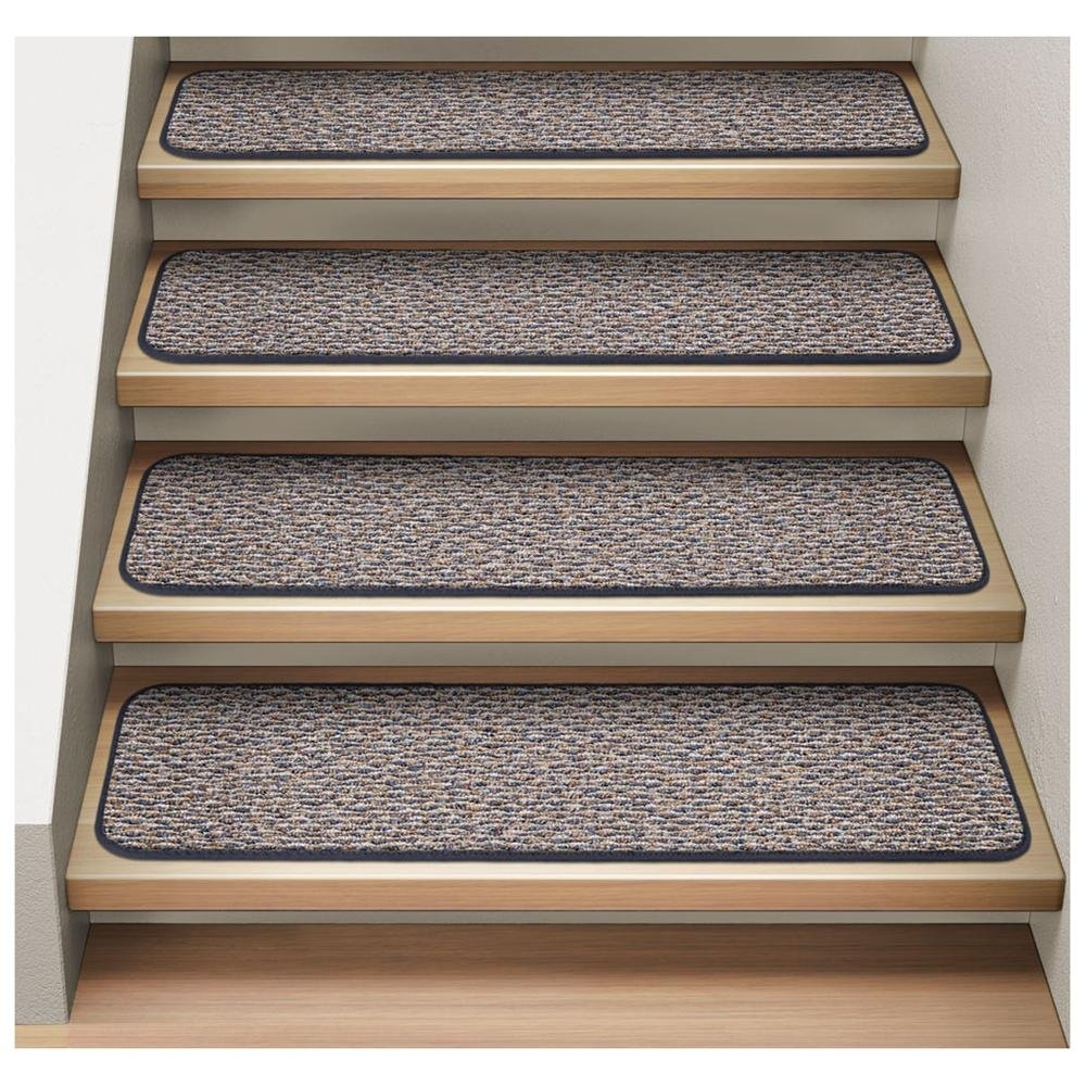Carpet Stair Treads Peel And Stick Carpet Stair Treads Diy Within Peel And Stick Carpet Stair Treads (Image 5 of 15)