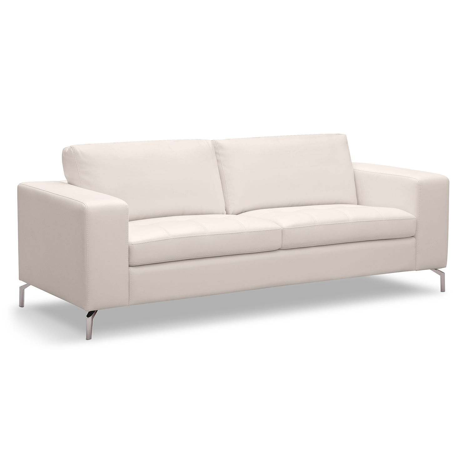 Casino Leather Sofa American Signature Furniture Main Living Regarding White Sofa Chairs (Image 2 of 15)