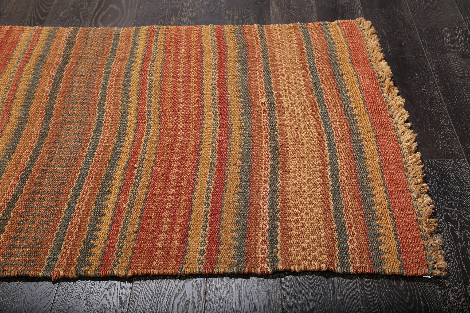 Casual Natural Fiber Red Brown Orange Jute Rug 36223 Intended For Brown Orange Rugs (View 14 of 15)