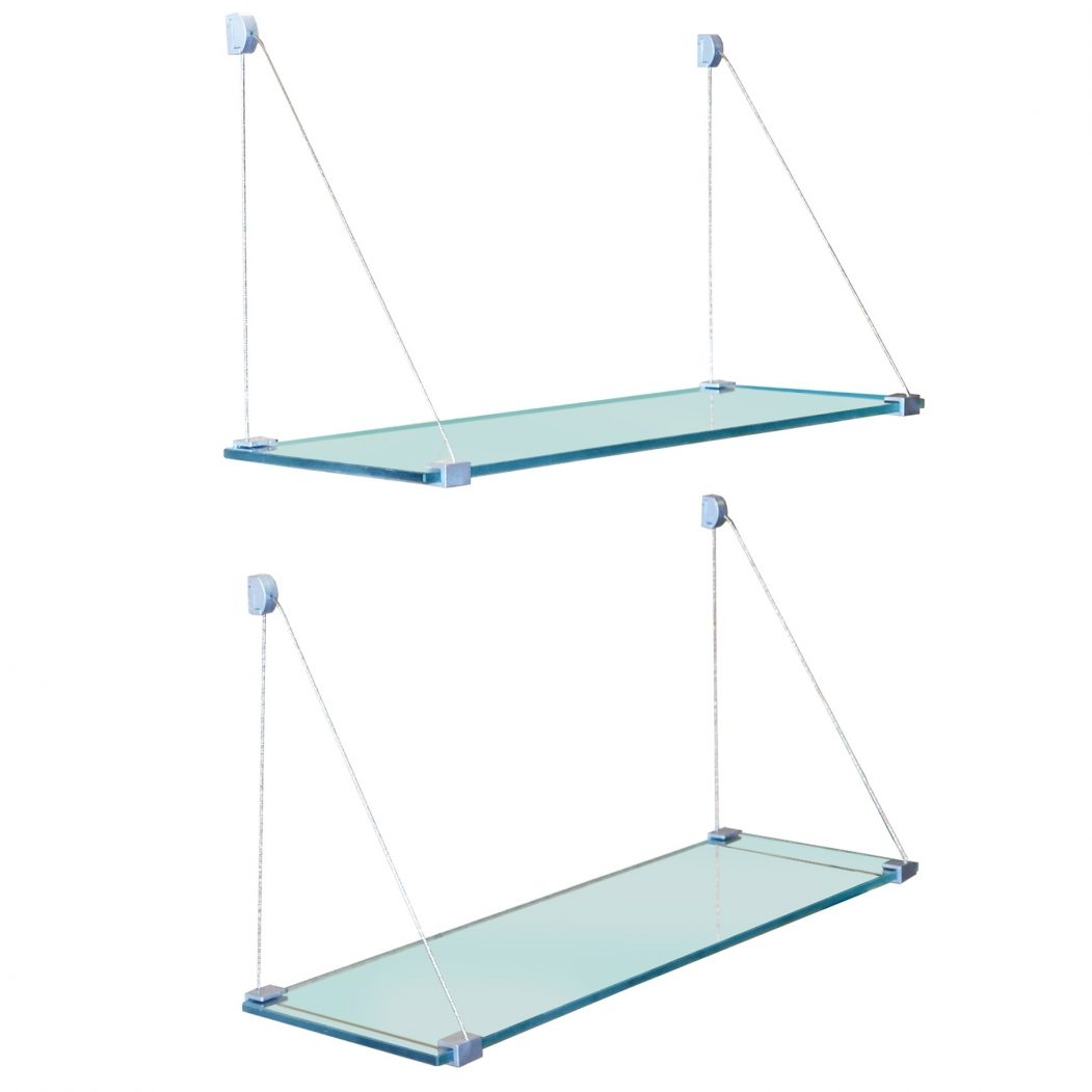 Ceiling Suspended Glass Shelves Products Glass Display Cabinets Inside Suspended Glass Display Shelves (View 4 of 15)