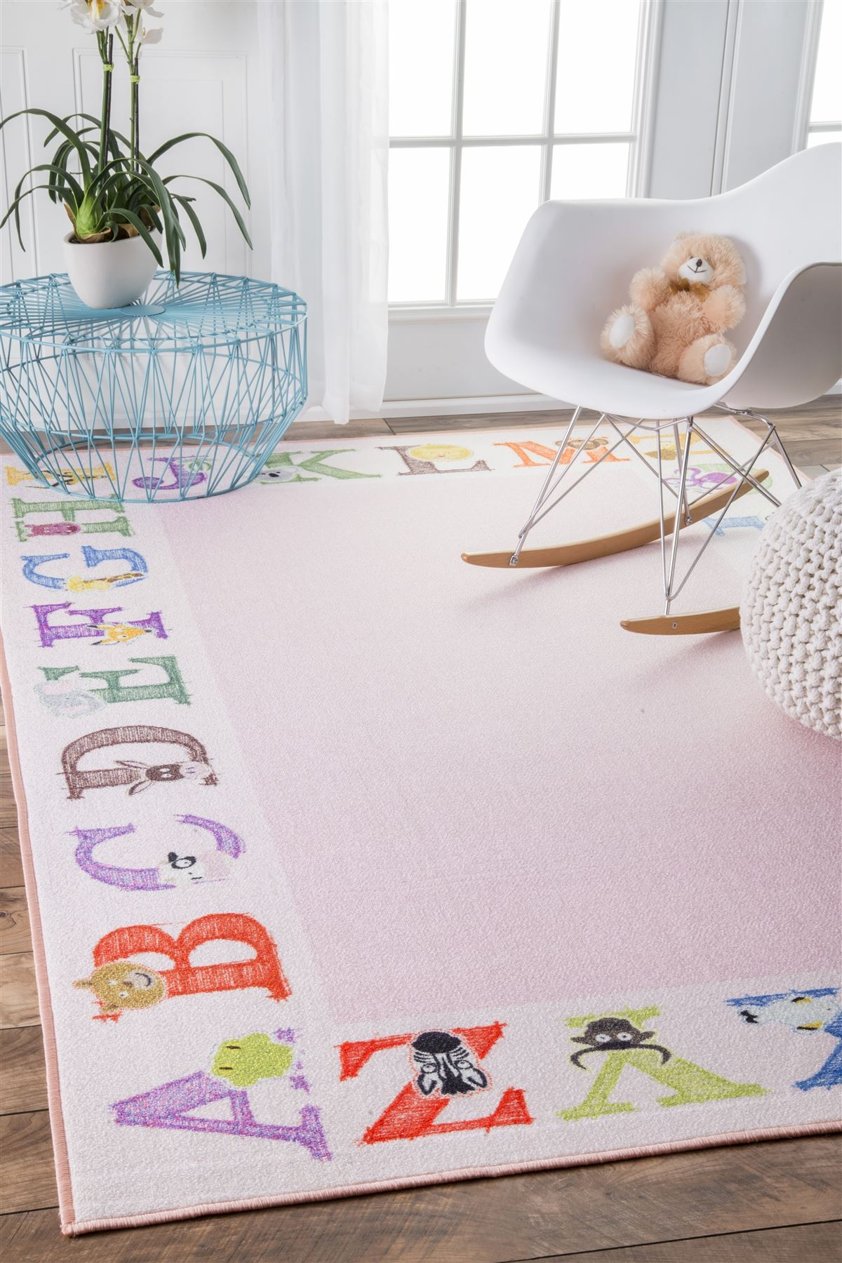Celesta Alphabet Rug Ba Pink With Regard To Pink Alphabet Rugs (Image 3 of 15)