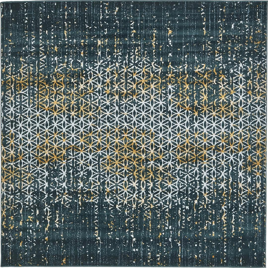 Centripetal Square Rugs 6×6 Room Area Rugs Within Square Rugs 6× (Image 5 of 15)
