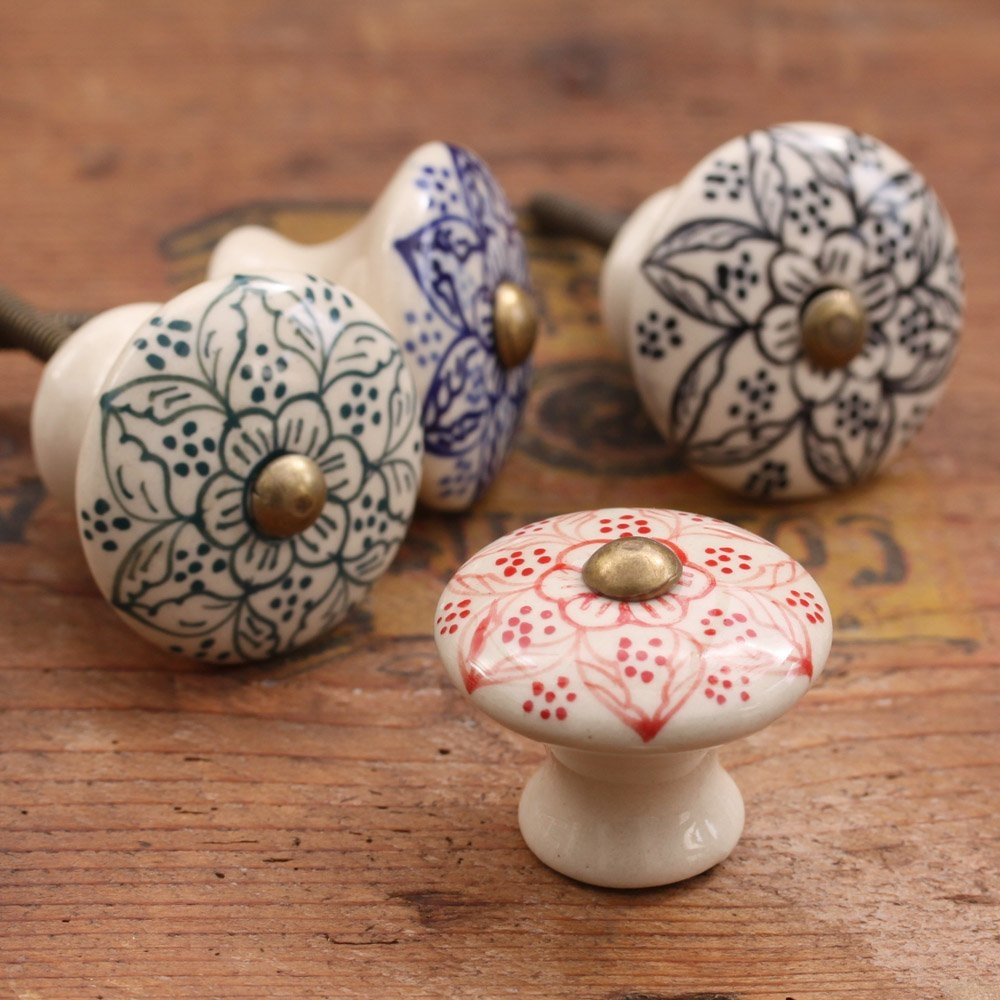 Ceramic Door Knobswholesale Decorative Colorful Knobsfor Kitchen With Porcelain Cupboard Knobs (Image 9 of 25)