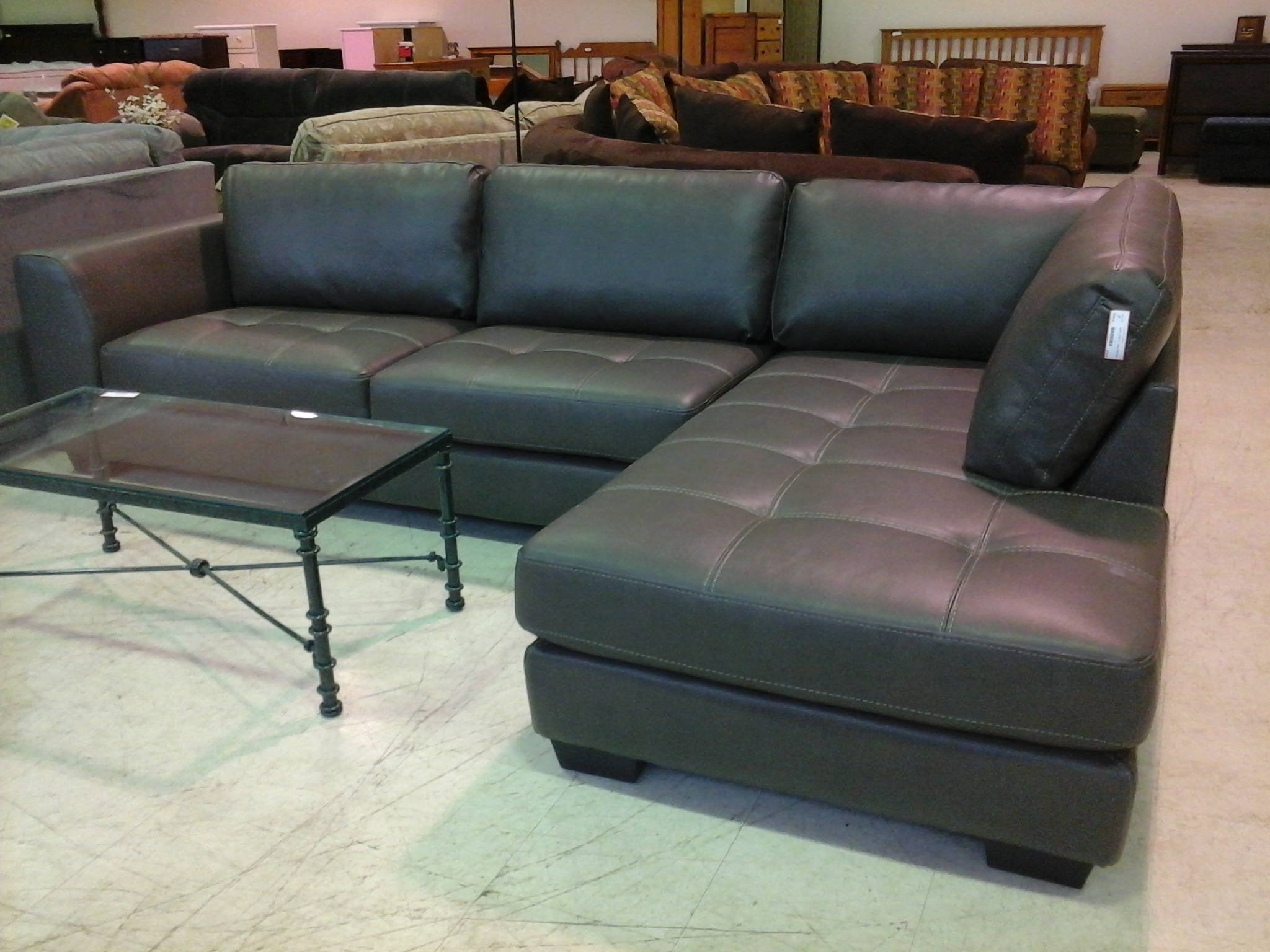 Charcoal Gray Leather Sectional Sofa Tehranmix Decoration Intended For Charcoal Grey Sofas (Image 3 of 15)