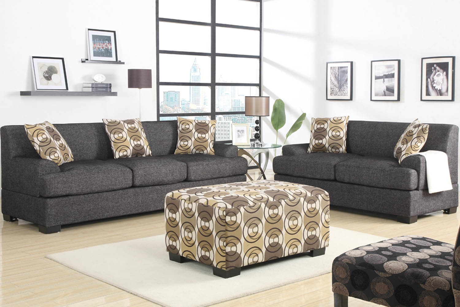 Charcoal Grey Sofa And Loveseat Hereo Sofa With Charcoal Grey Sofas (Image 5 of 15)