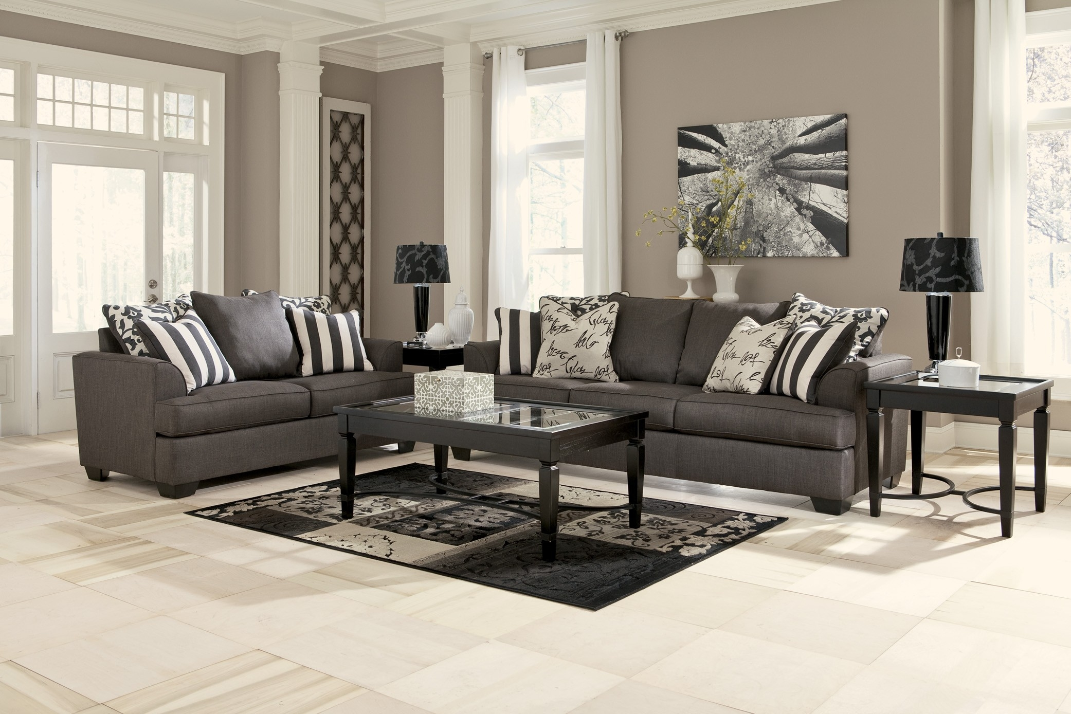 Charcoal Grey Sofa Decorating Ideas Best Ideas About Charcoal Pertaining To Charcoal Grey Sofas (Image 6 of 15)