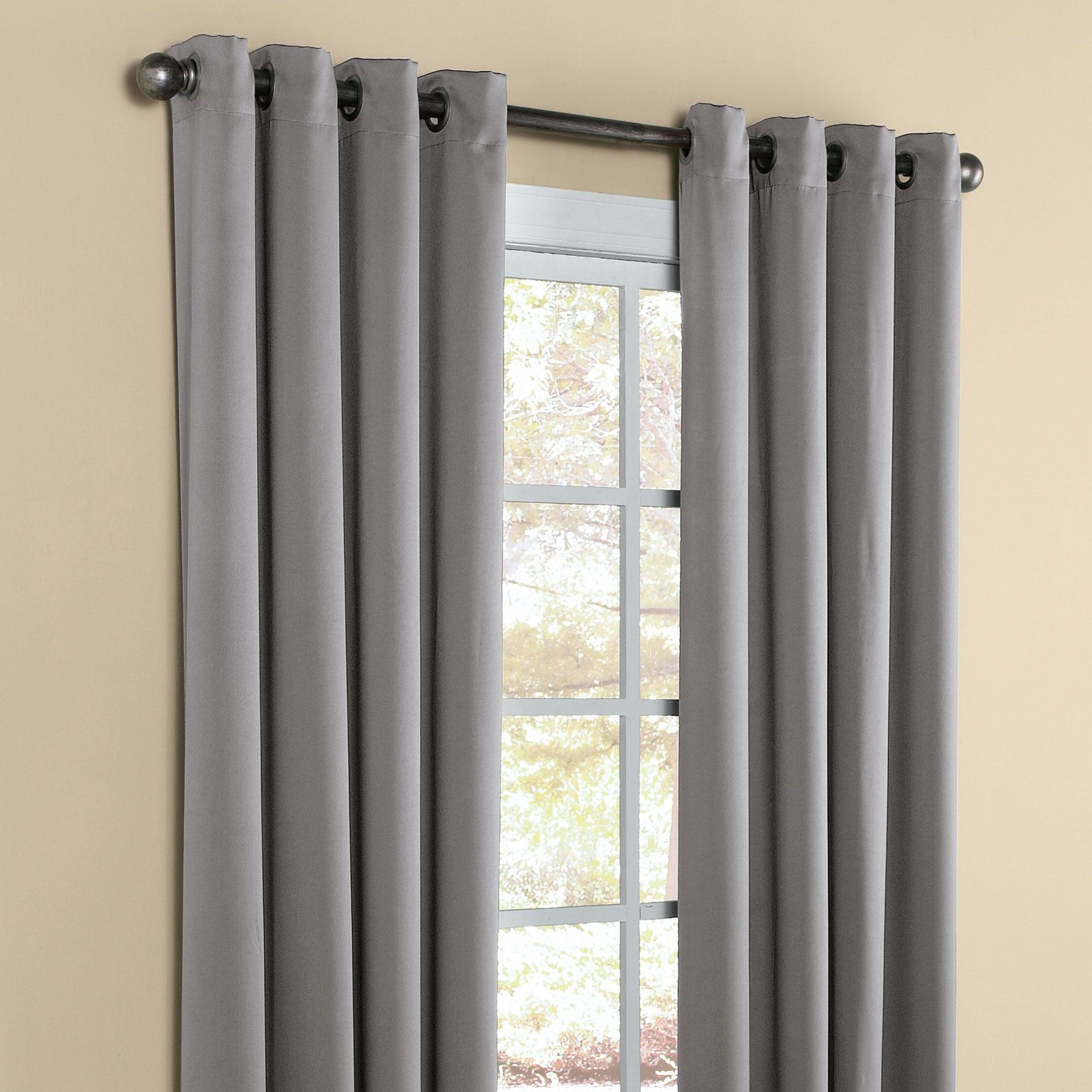 Charming Ideas Darkening Curtains Madison Room Darkening Grommet In 63 Inches Long Curtains (Image 5 of 25)