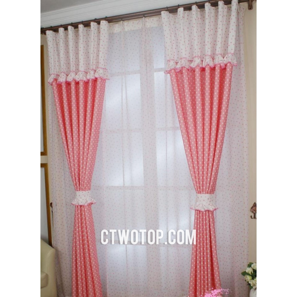 Cheap Kids Bedroom Curtains Eclipse Kids Blackout Curtains Intended For Navy And White Polka Dot Curtains (Image 6 of 25)