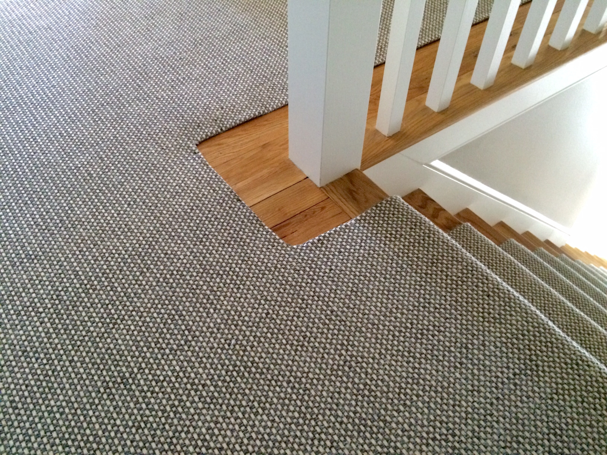 Check Out This Merida Studio Flat Woven Wool Stair Runner That With Stick On Carpet For Stairs (Image 4 of 15)