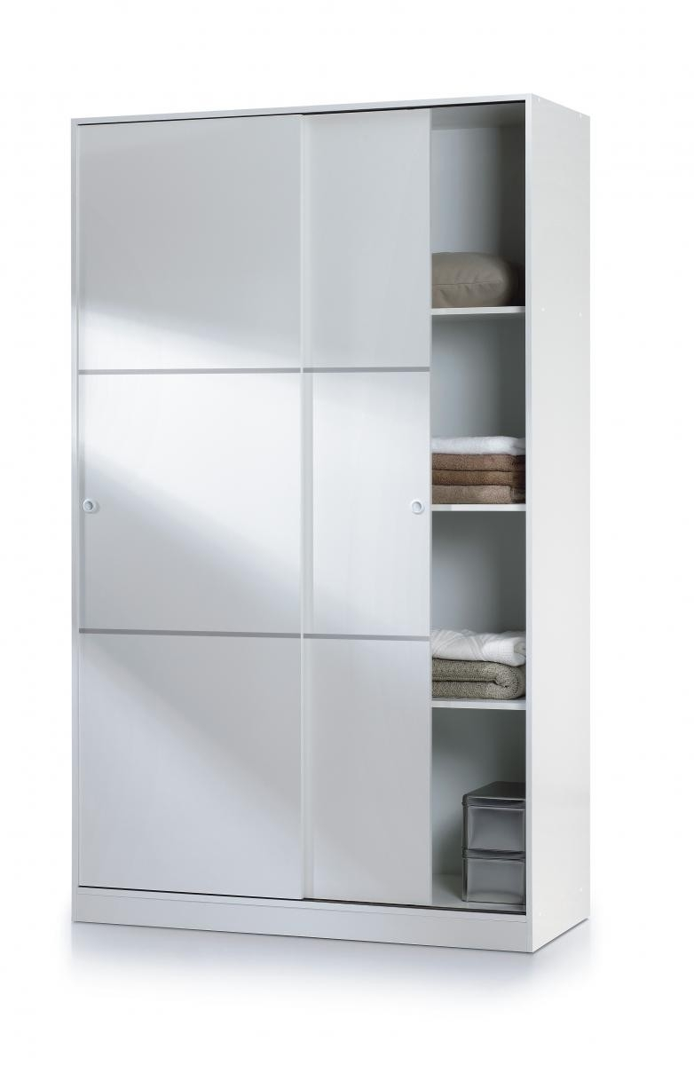 Chelsea Sliding Doors Wardrobe White Brixton Beds Pertaining To Wardrobe With Shelves (View 10 of 25)