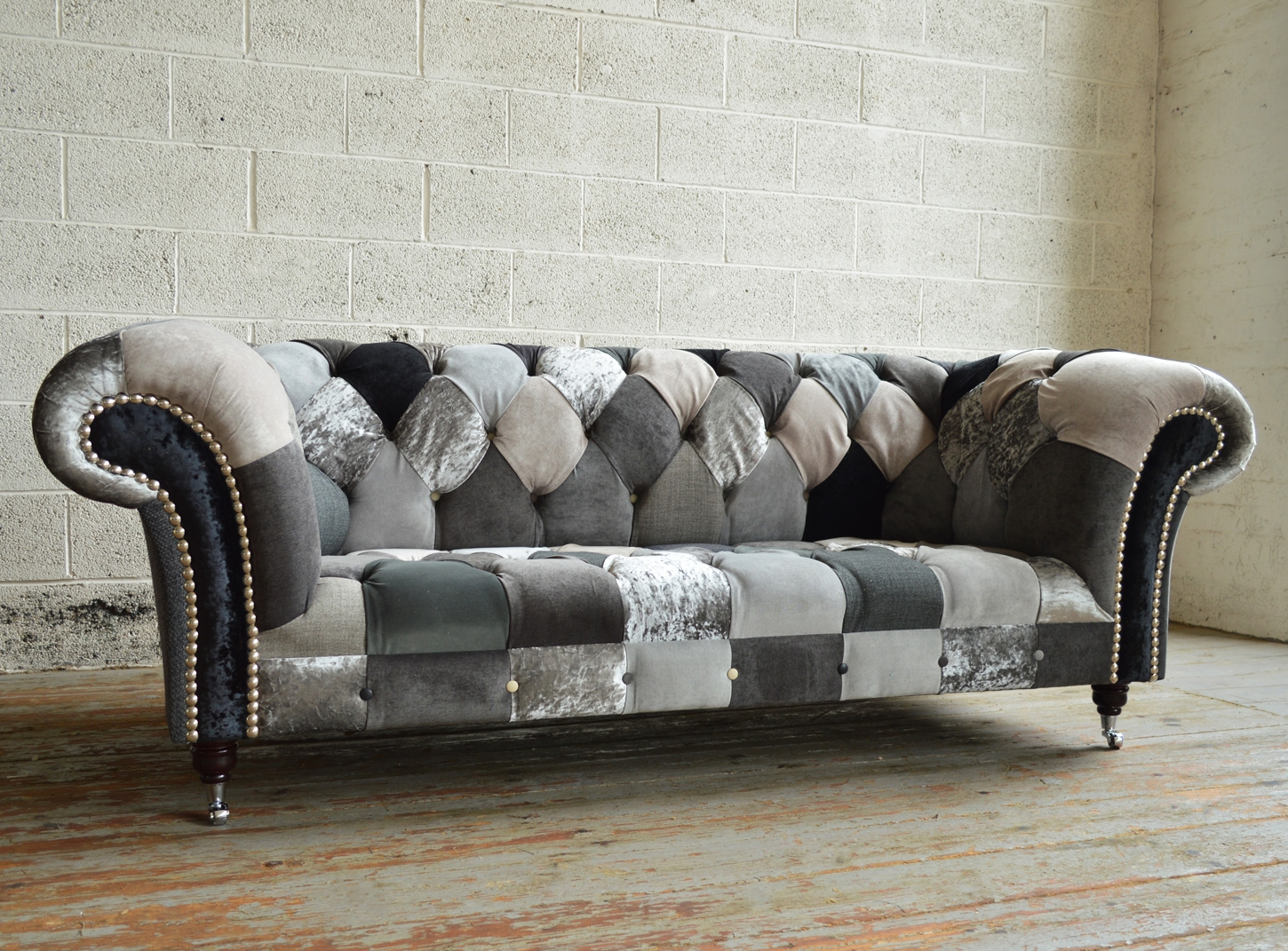 Chester Patchwork Chesterfield Sofa Abode Sofas For Chesterfield Sofas (Image 2 of 15)