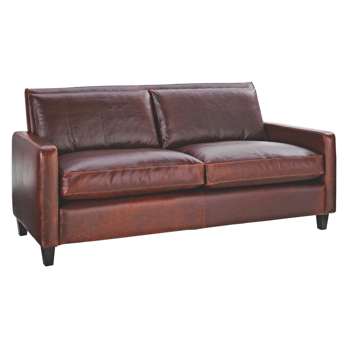 Chester Tan Leather 2 Seater Sofa Dark Stained Feet Buy Now At Intended For 2 Seater Sofas (Image 8 of 15)