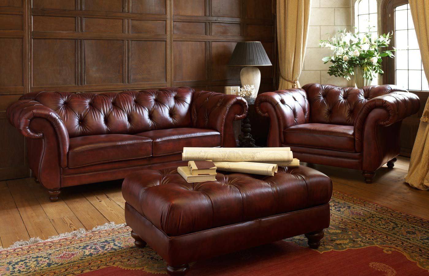 Chesterfield Sofa And Chairs Thesofa Intended For Chesterfield Sofa And Chair (Image 6 of 15)