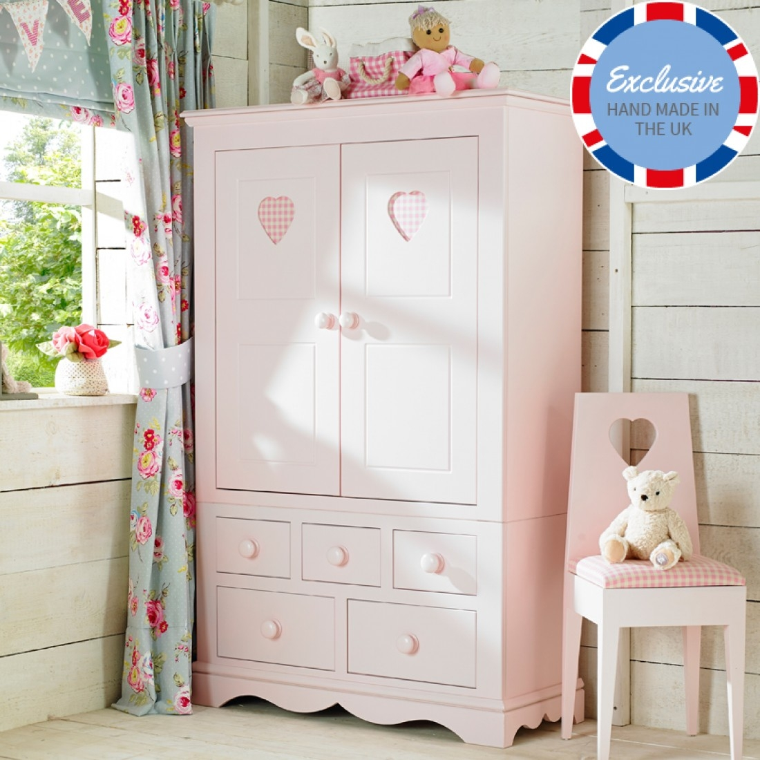 Childrens Wardrobes Childrens Furniture Little Lucy Willow Uk Intended For Childrens Pink Wardrobes (Image 7 of 25)