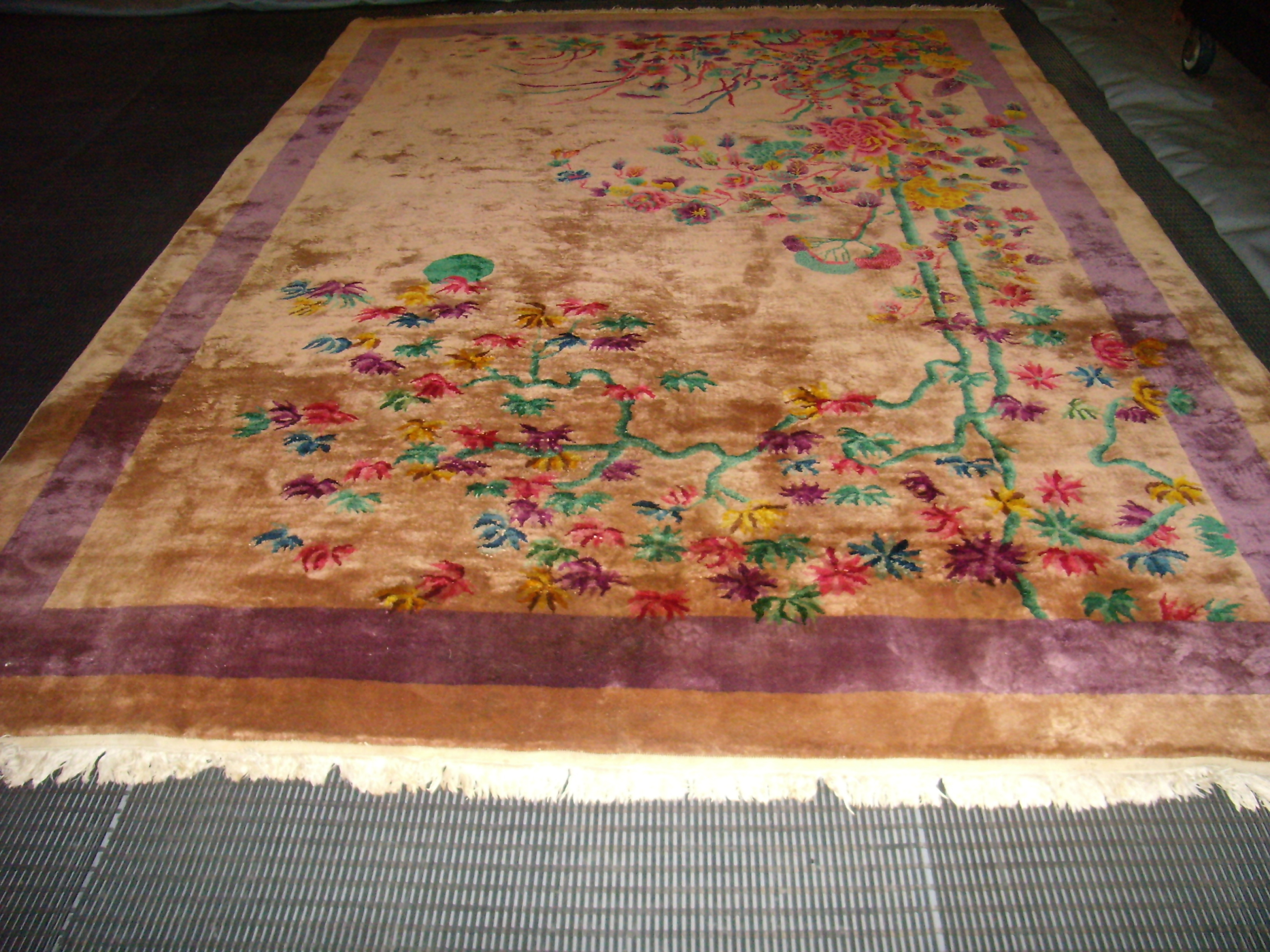 Chinese Hand Knotted Wool Rug 9×12 Intended For Knotted Wool Rugs (Image 5 of 15)