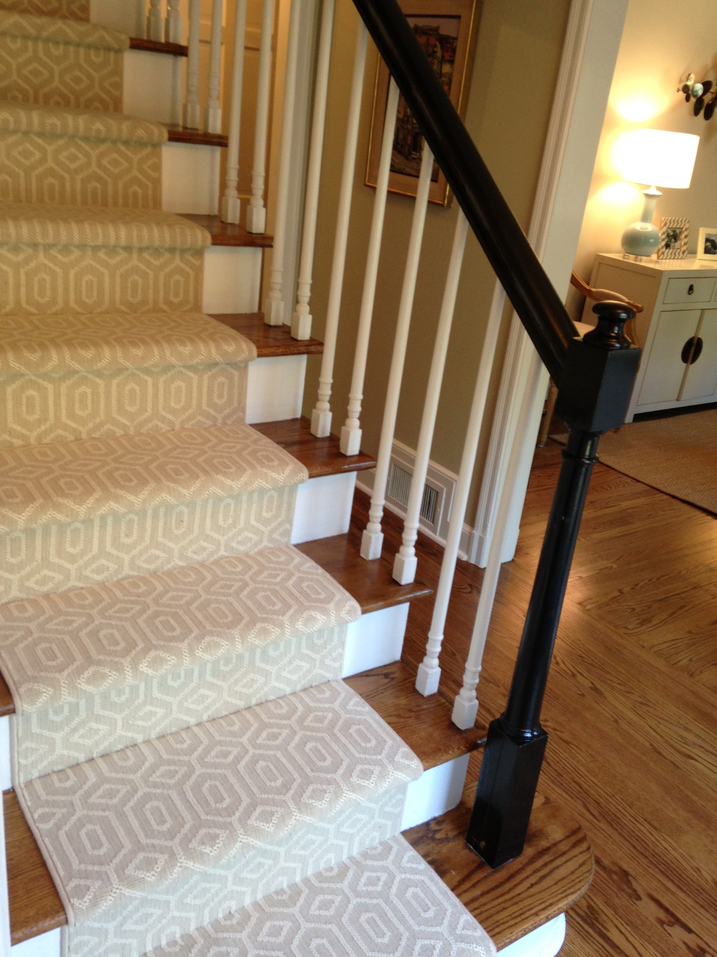 Choosing A Stair Runner Some Inspiration And Lessons Learned Intended For Stair Tread Carpet Runners (Image 4 of 15)