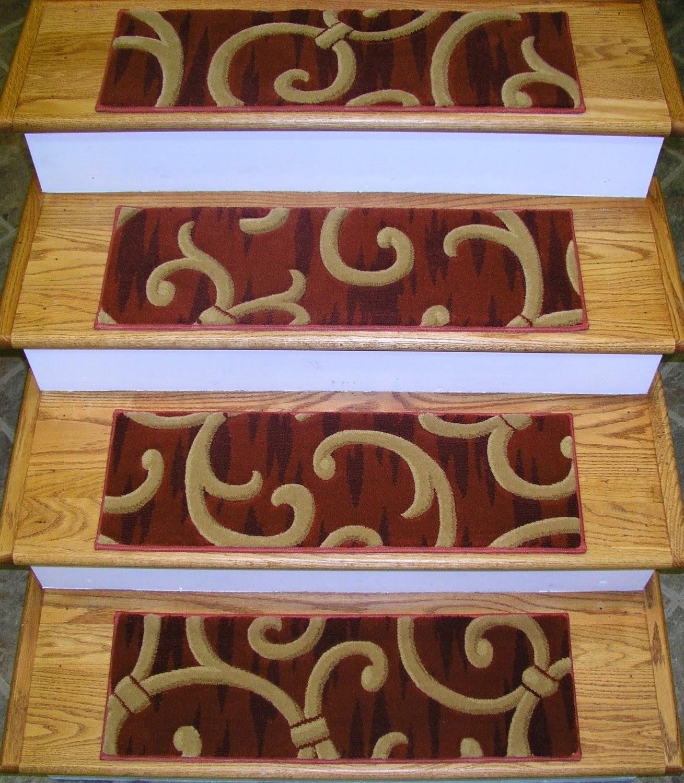 Choosing Beautiful Stair Tread Rugs John Robinson House Decor Regarding Rustic Stair Tread Rugs (Image 6 of 15)