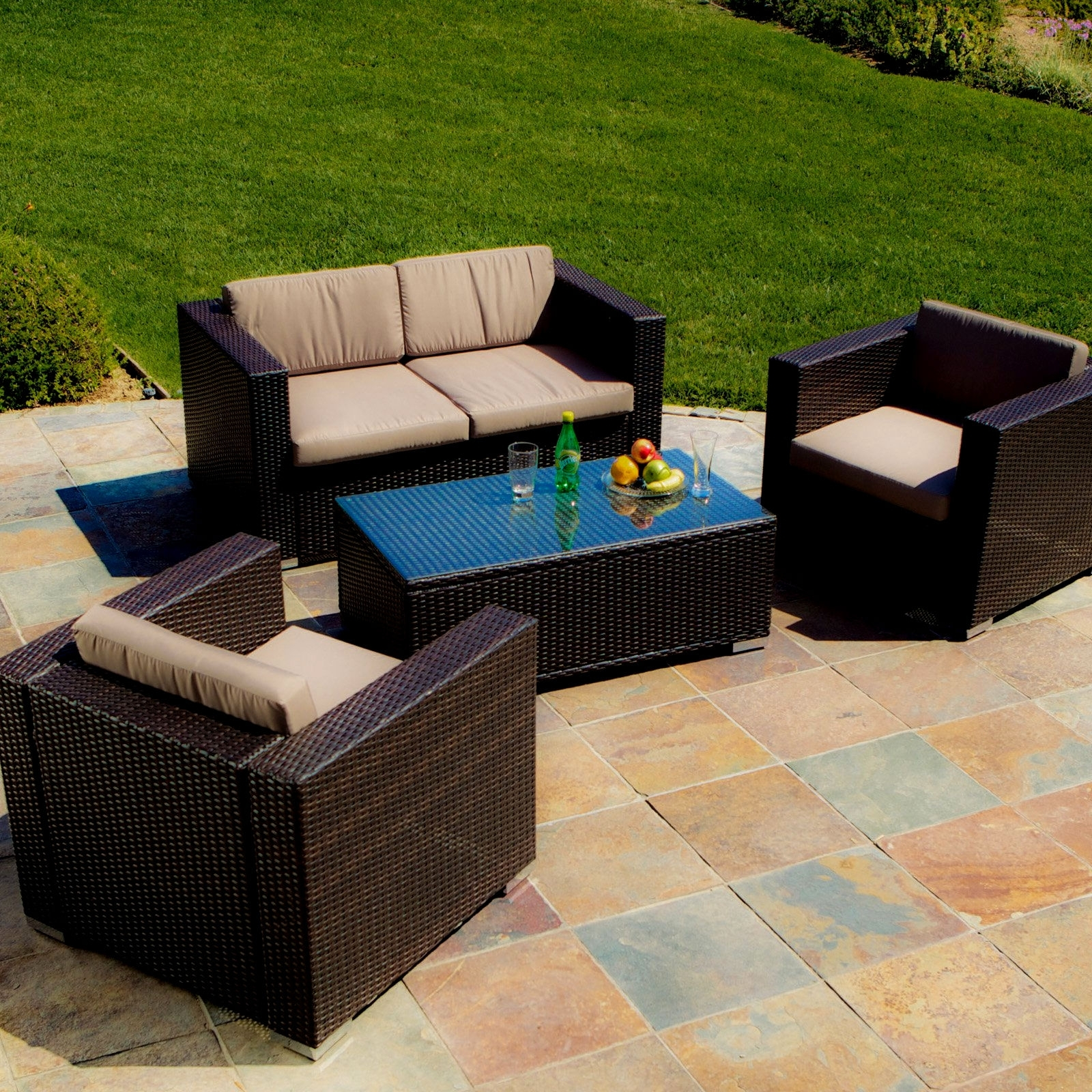 Christopher Knight Wicker Patio Furniture Outdoor Patio Decoration With Outdoor Sofa Chairs (Image 4 of 15)