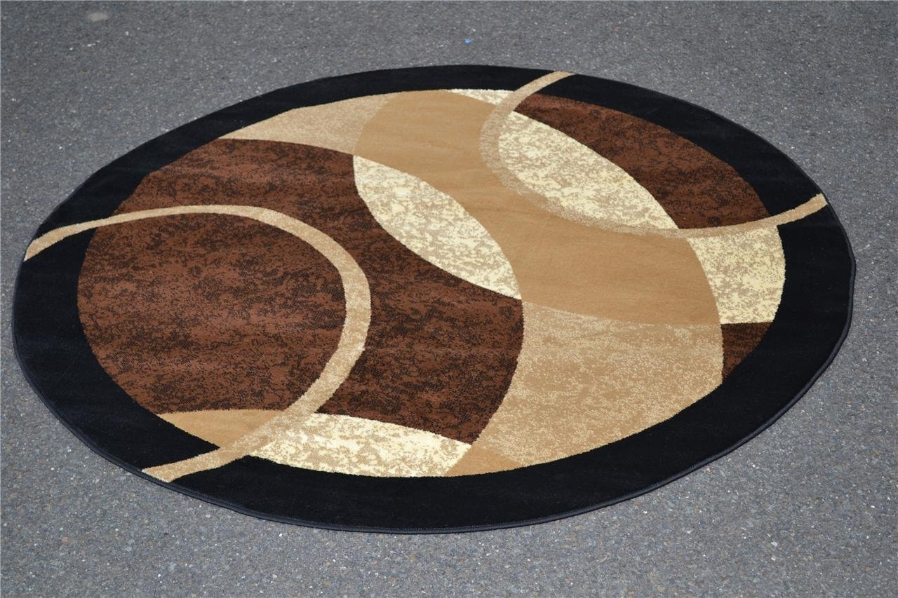 Circular Rugs Large Custom Color Blast Area Rugcrochet Round Inside Rounds Rugs (View 11 of 15)