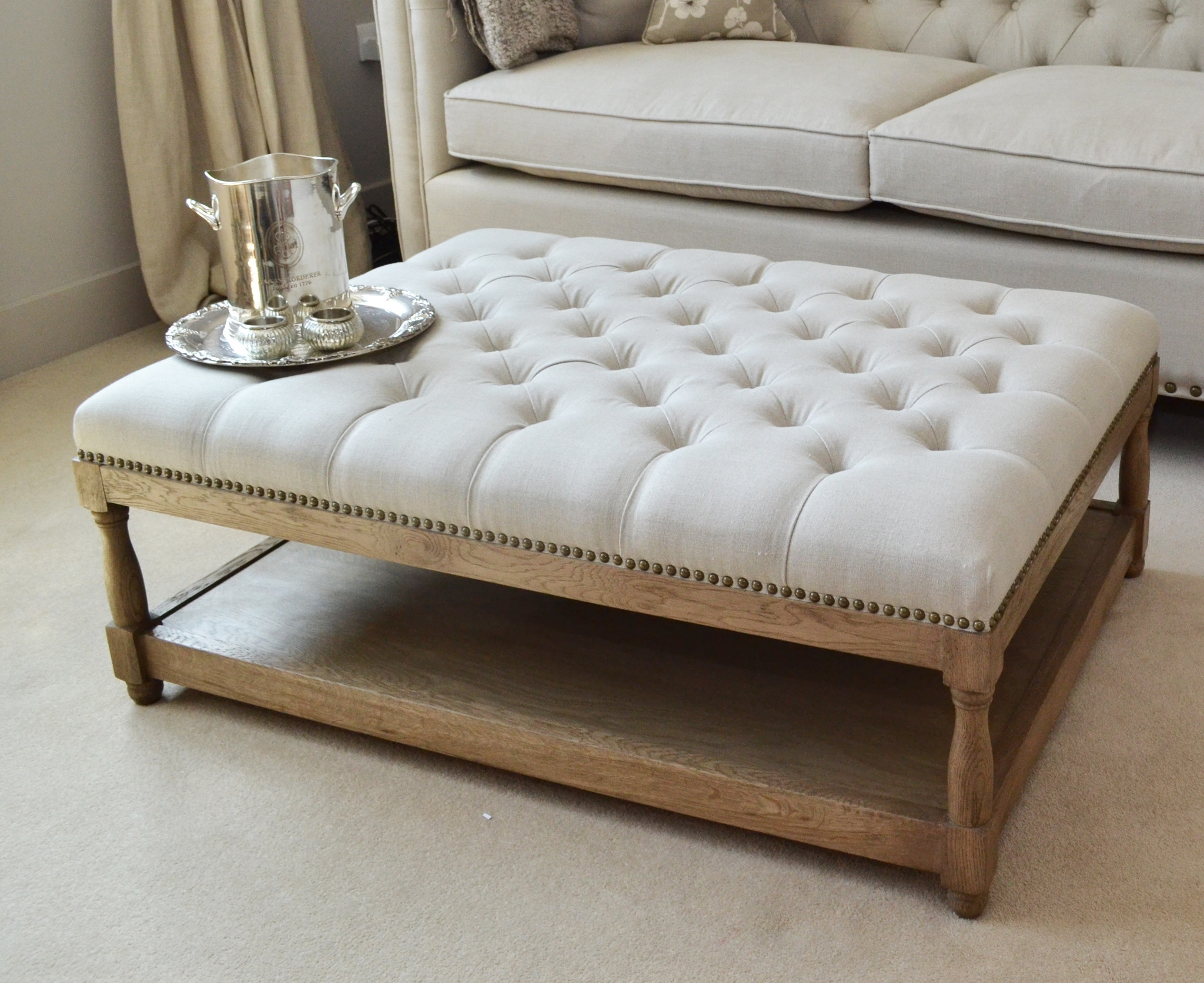 Classy Coffee Table Footstool For Diy Home Interior Ideas With In Intended For Large Footstools (Image 8 of 15)
