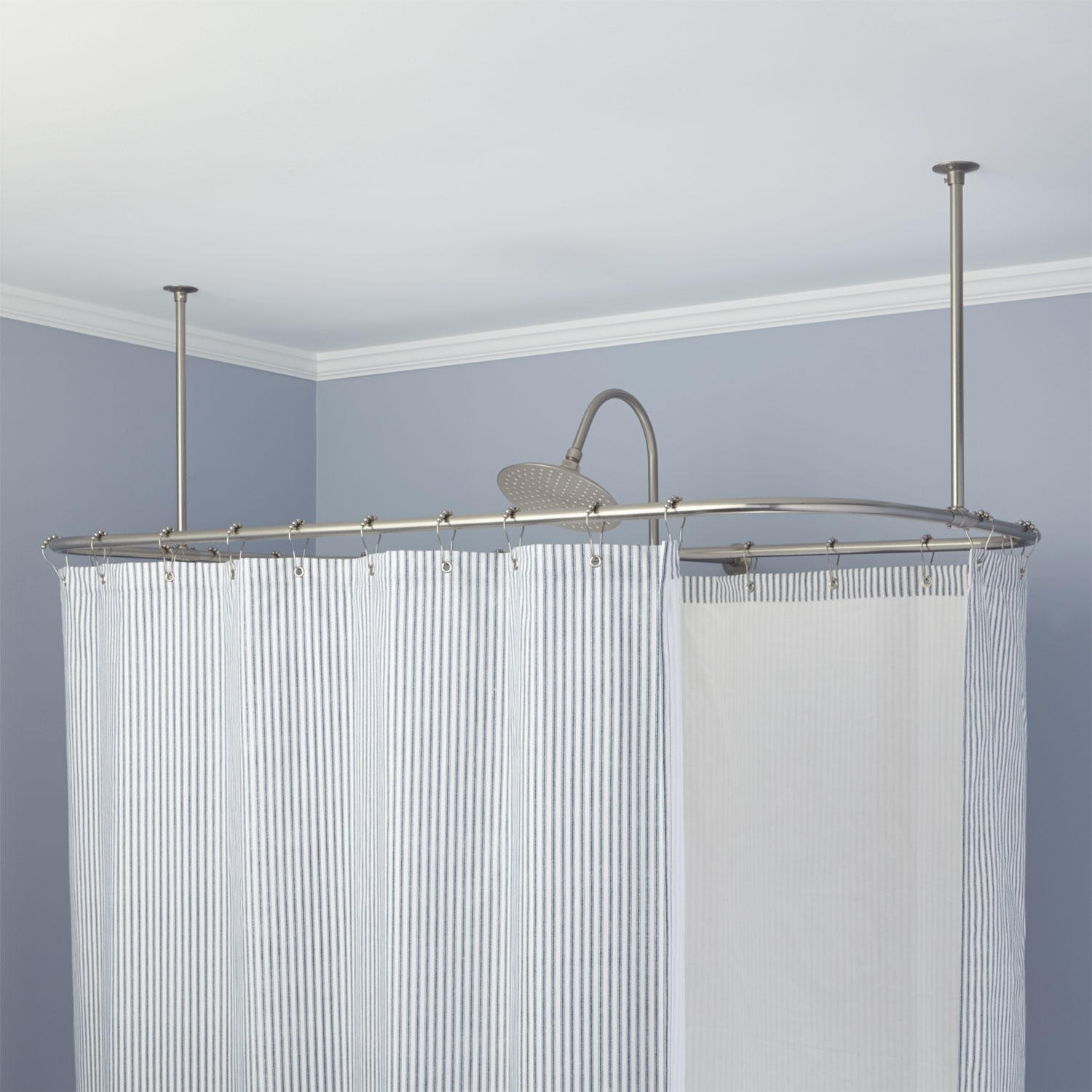 Clawfoot Tub Shower Curtain Rods Signature Hardware Throughout Claw Tub Shower Curtains (Image 15 of 25)