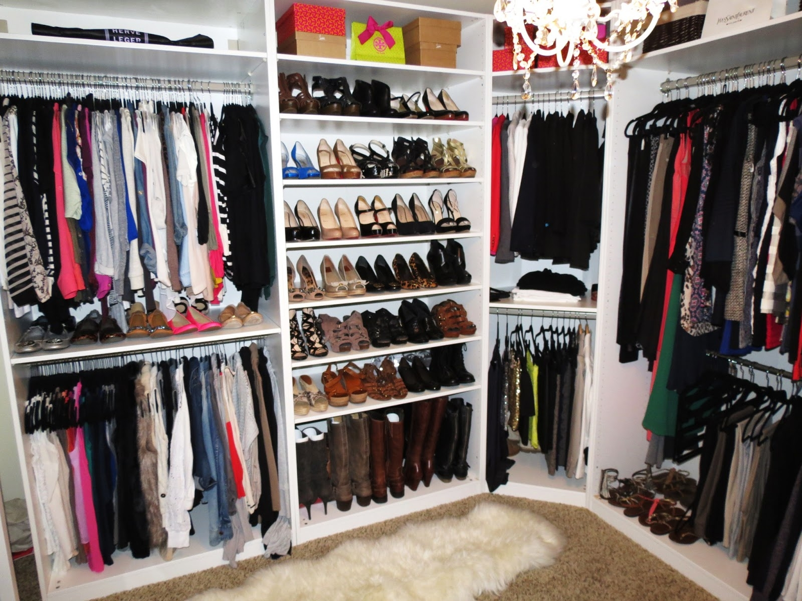 Closet And Makeup Room Tiffanyd New Closet Reveal And Video Pertaining To Wardrobe Shoe Storages (Image 11 of 25)