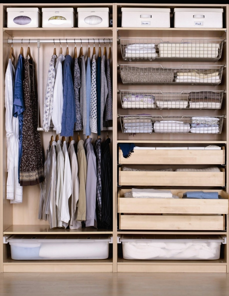 Closet Design Ideas Ikea Shelf Idea With White Storage Regarding Bedroom Wardrobe Storages (View 6 of 25)