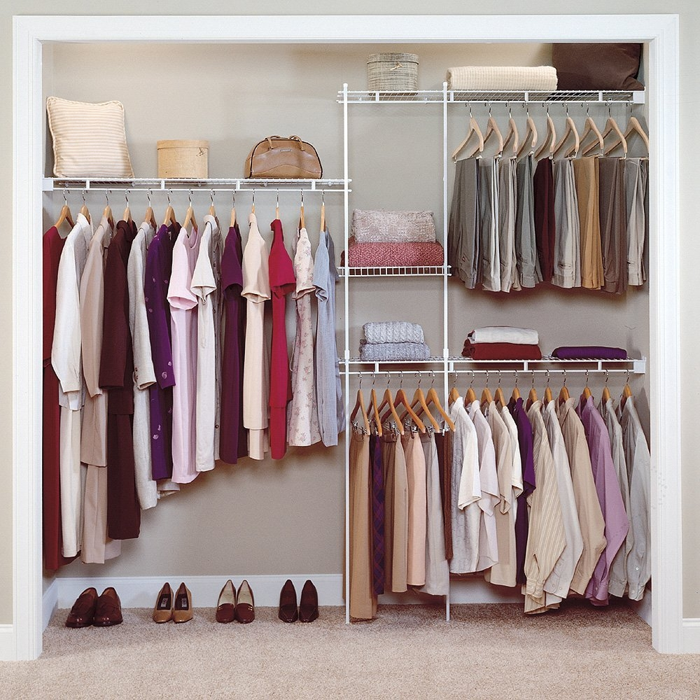 Closet Organizing Ideas Home Design John Pertaining To Wardrobe Hangers Storages (Image 12 of 25)
