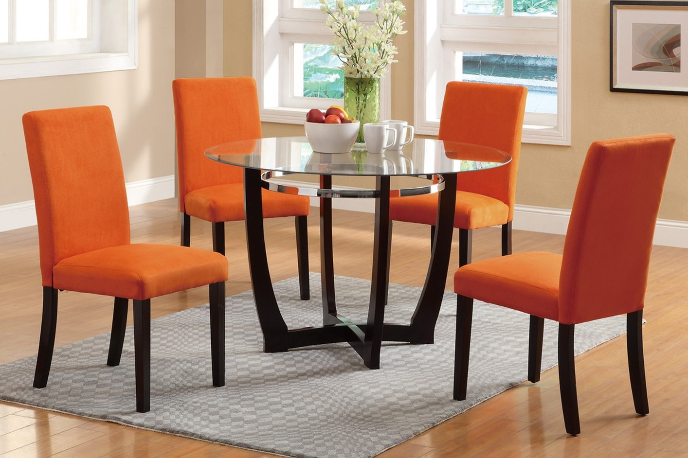Coaster 100181 Brown Wood Dining Table Steal A Sofa Furniture With With Dining Sofa Chairs (Image 3 of 15)