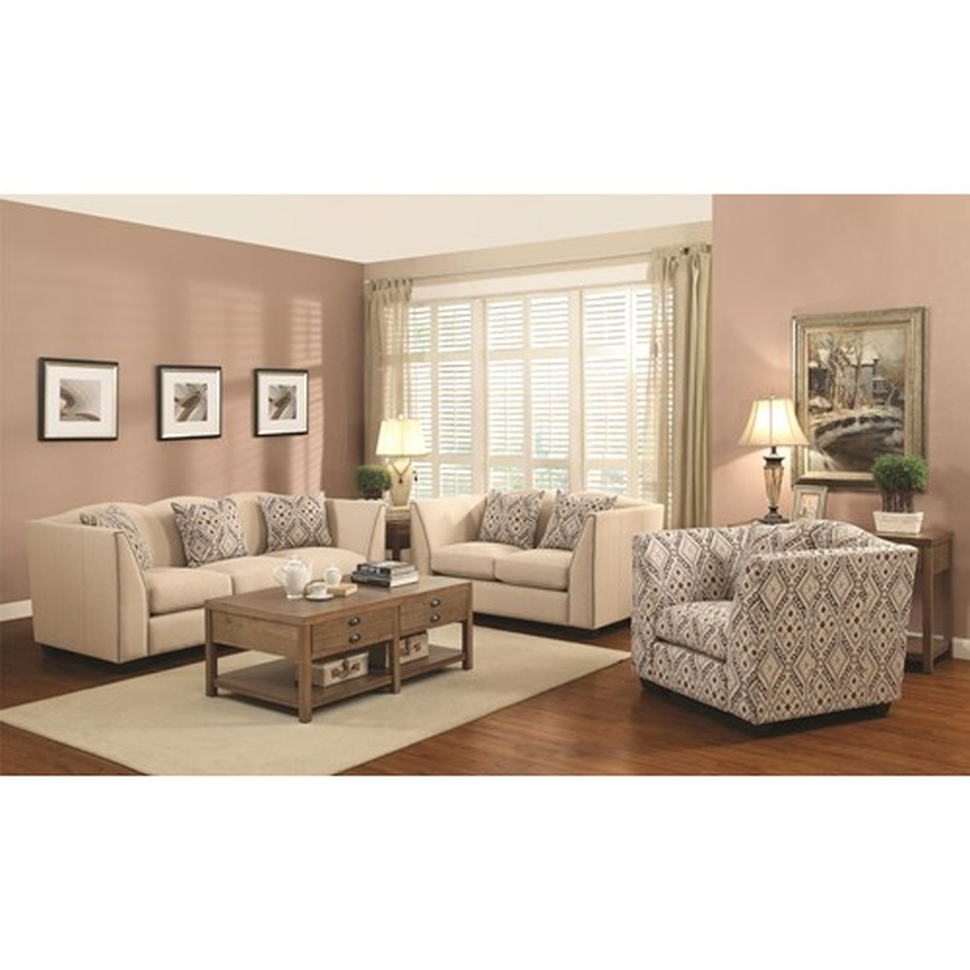 Coaster Siana 902167 Beige Fabric Accent Chair Steal A Sofa Throughout Accent Sofa Chairs (Image 7 of 15)