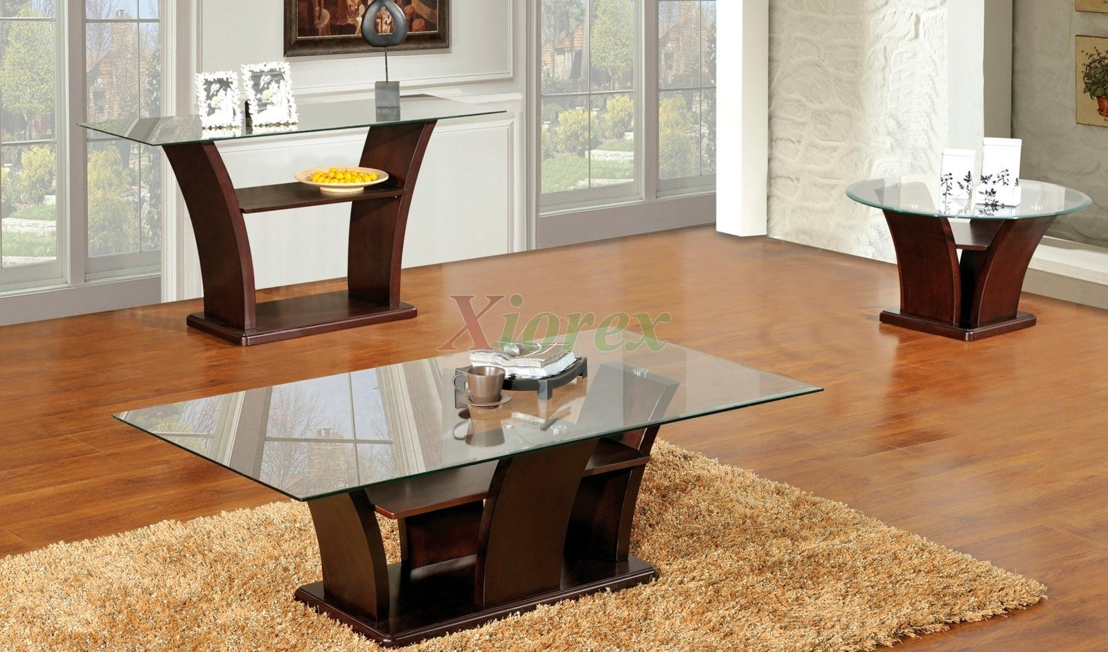 Coffee Table Columba 3 Piece Coffee Table Set With Sofa Console Throughout Sofa Table Chairs (Image 5 of 15)