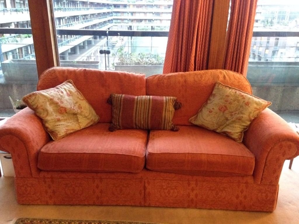 Comfy Marks And Spencer Terracotta 3 Piece Suite Sofa And Two With Marks And Spencer Sofas And Chairs (Image 1 of 15)