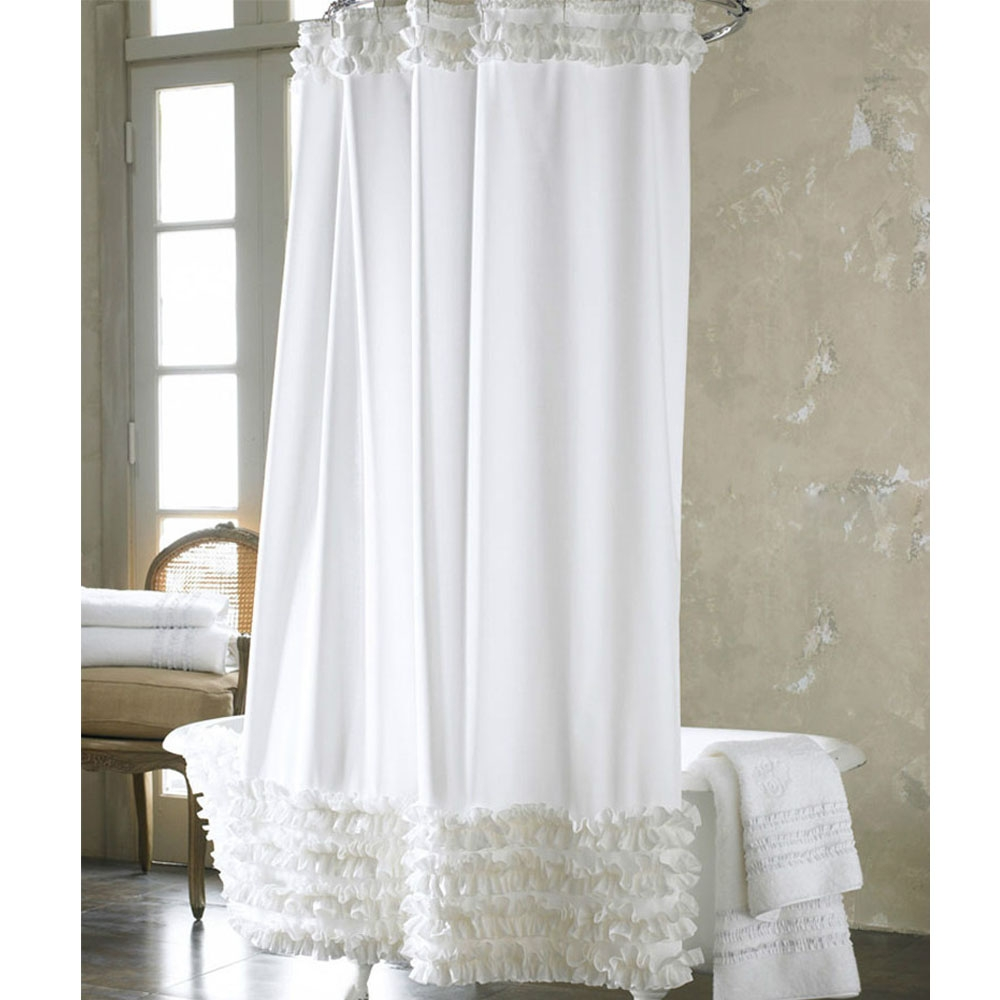 Compare Prices On White Ruffled Curtains Online Shoppingbuy Low Inside White Ruffle Curtains (View 19 of 25)