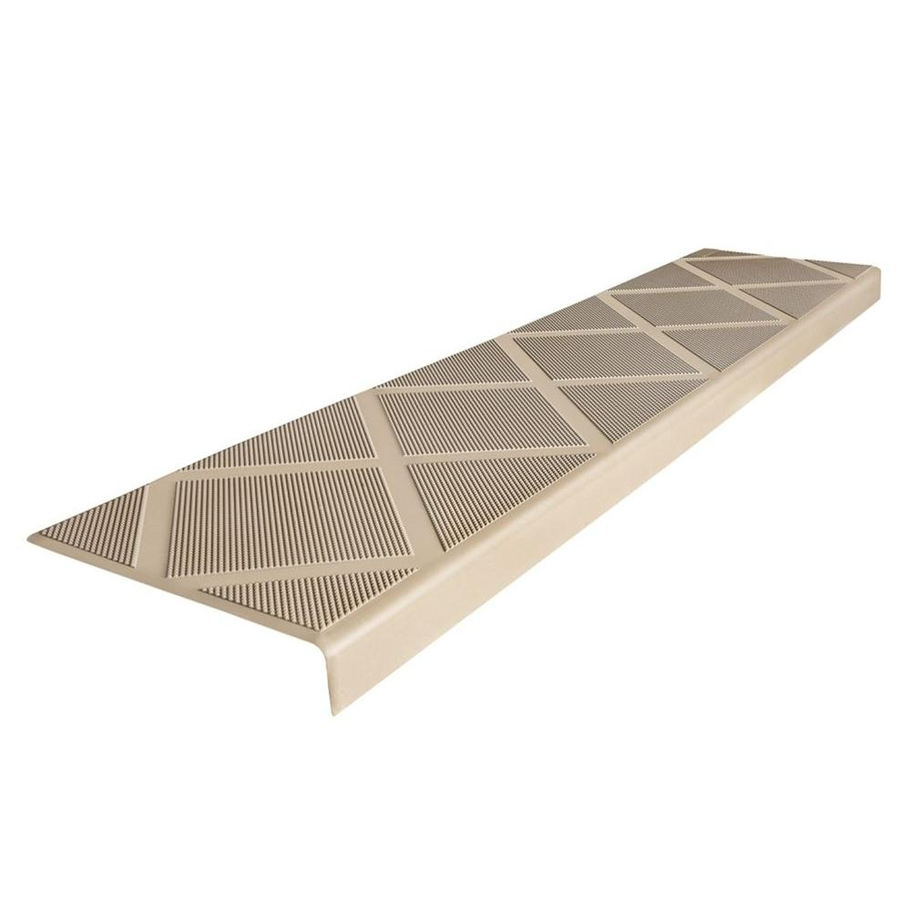 Composigrip Composite Anti Slip Stair Tread 48 In Beige Step Pertaining To Stair Slip Guards (Image 5 of 15)