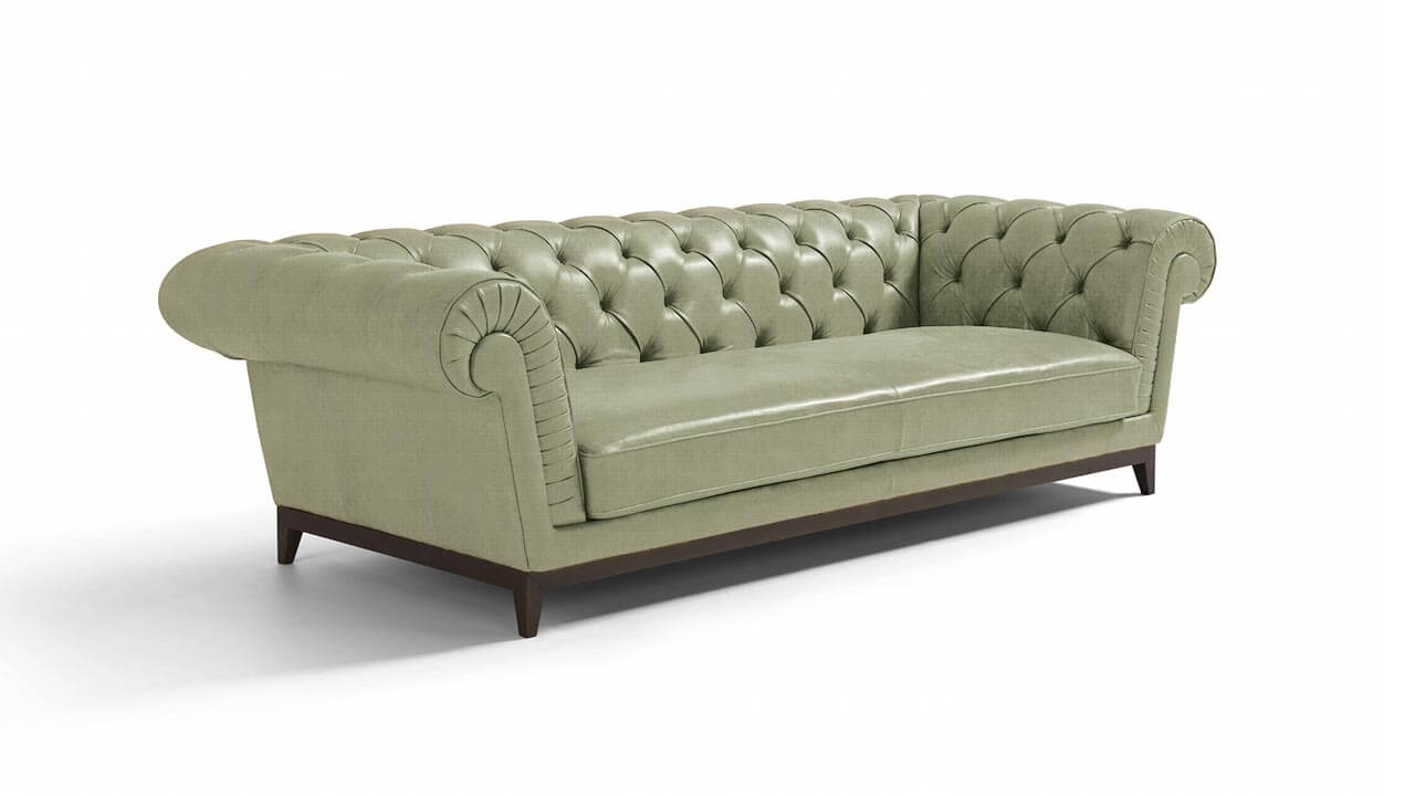 Concerta Large 3 Seater Leather Sofa Vavicci Fine Home For 3 Seater Leather Sofas (Image 7 of 15)
