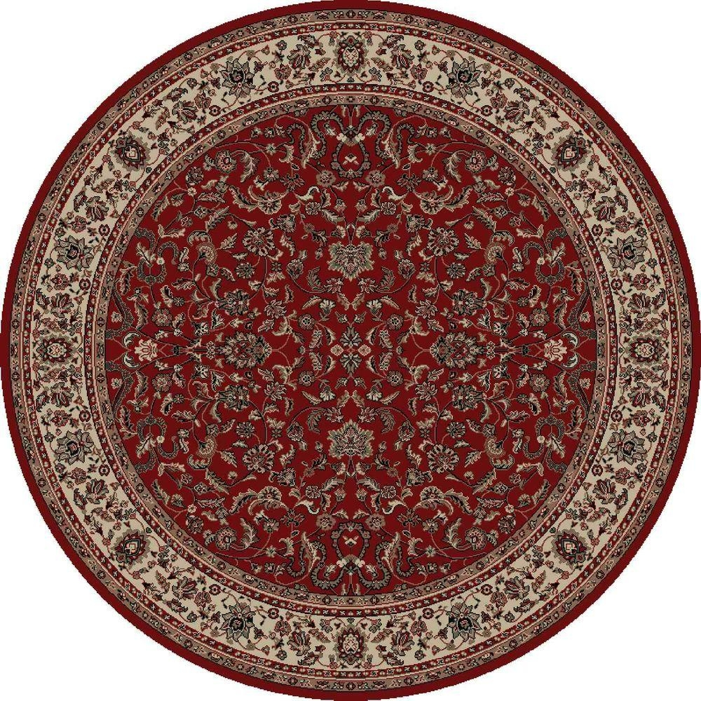 Concord Global Trading Persian Classics Kashan Red 7 Ft 10 In Pertaining To Round Persian Rugs (Image 6 of 15)