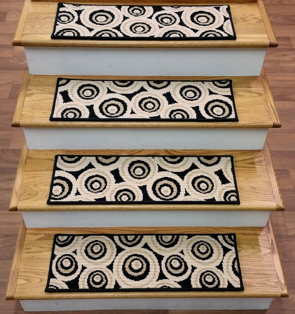 Contemporary 100 Wool Stair Treads Ebay Within Modern Stair Tread Rugs (Image 8 of 15)