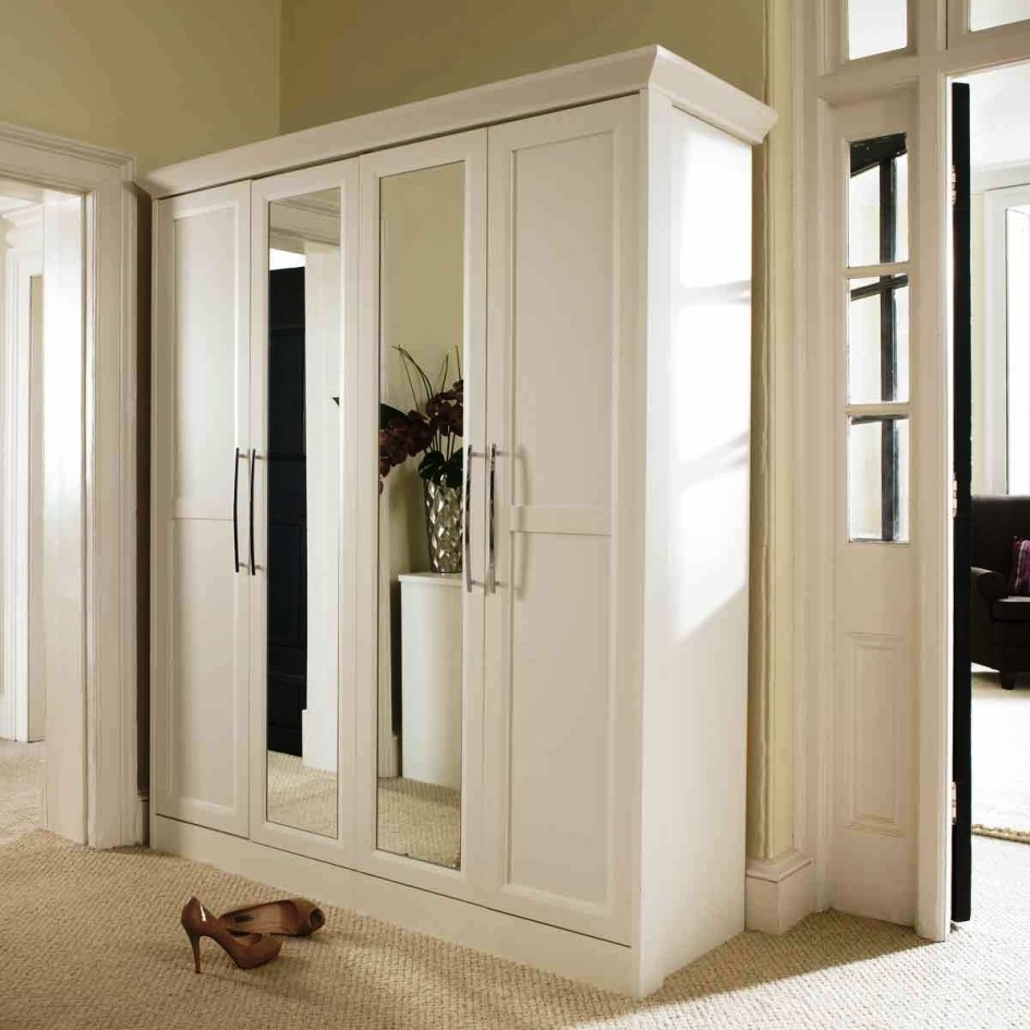 Contemporary Armoire Wardrobe With Lock Roselawnlutheran Intended For White Wardrobe Armoire (Image 8 of 25)