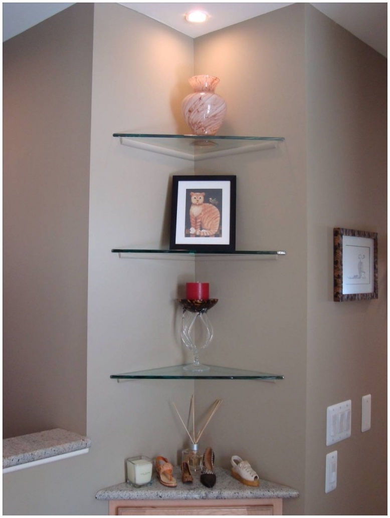 Featured Image of Large Glass Corner Shelves