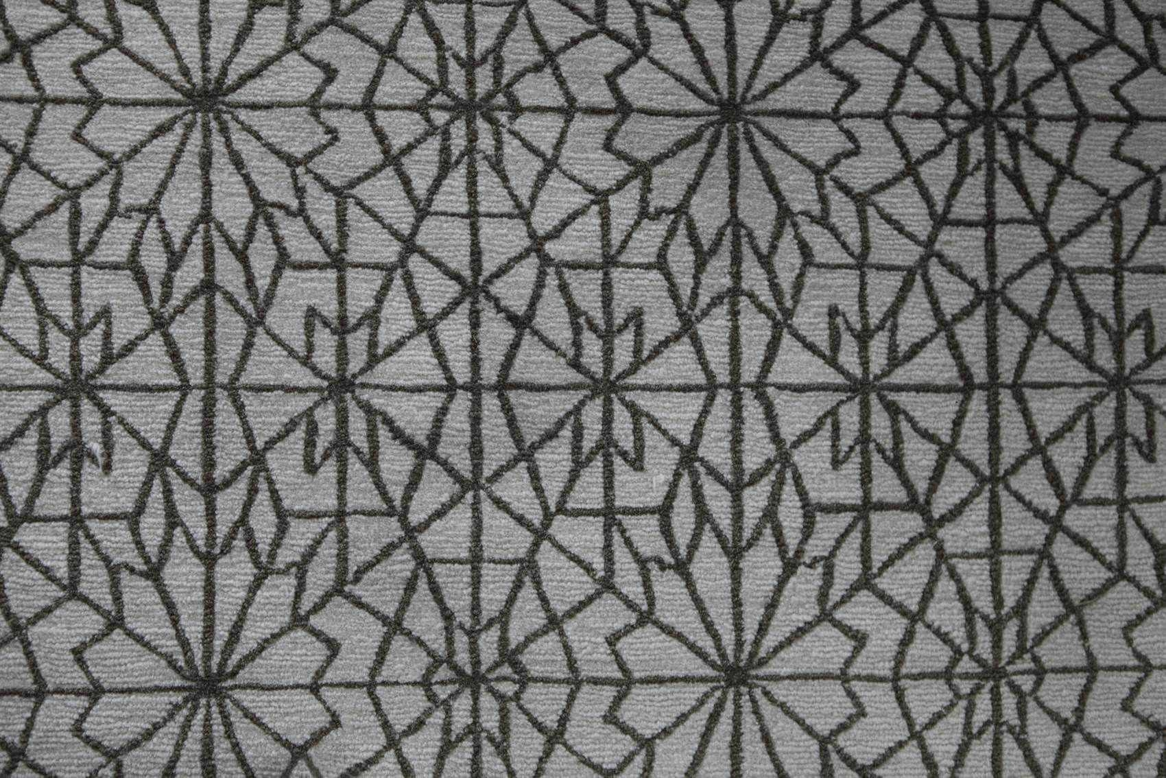 Contemporary Rug Patterned Wool Rectangular Arabian Throughout Geometric Carpet Patterns (View 11 of 15)