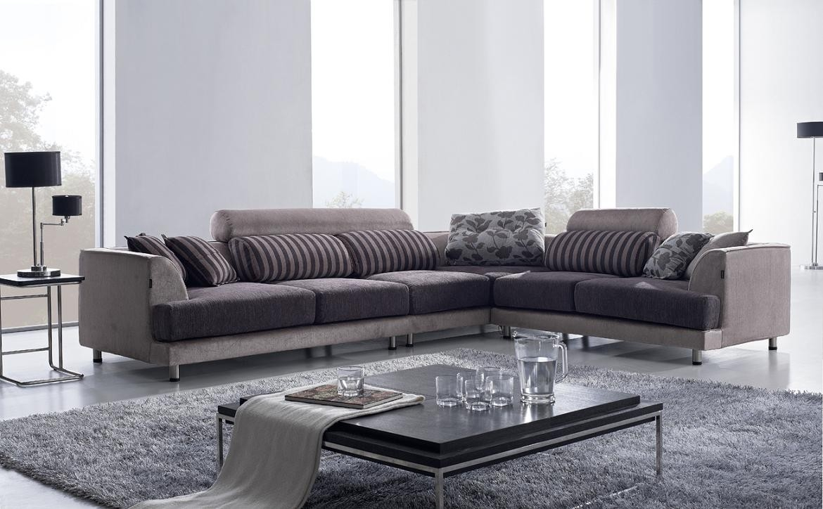 Contemporary Sectional Modern Sofa With Regard To Contemporary Fabric Sofas (Image 8 of 15)