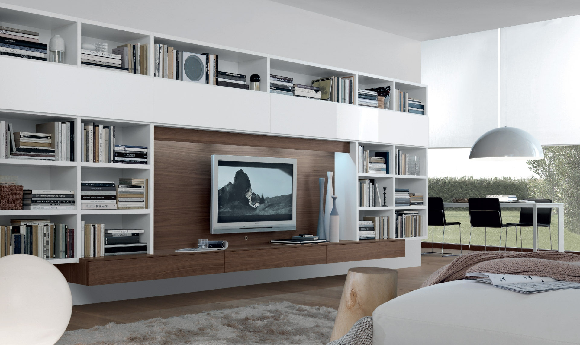 Contemporary Tv Wall Unit Open System Jesse For Tv Cabinet And Bookcase (Image 6 of 15)