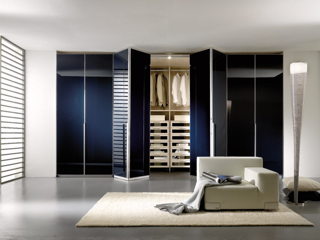 Contemporary Wardrobe Wooden Folding Door Spaziante 5 With Regard To Folding Door Wardrobes (View 12 of 25)