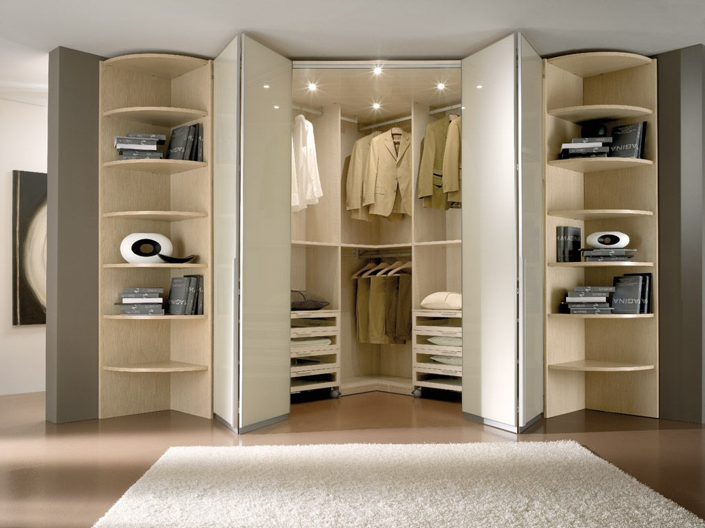 Contemporary Wardrobe Wooden Folding Door Spaziante 6 In Folding Door Wardrobes (View 22 of 25)