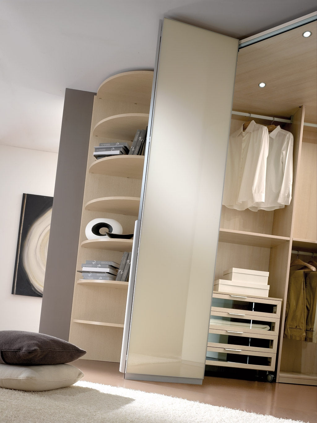 Contemporary Wardrobe Wooden Folding Door Spaziante 6 With Regard To Folding Door Wardrobes (View 17 of 25)