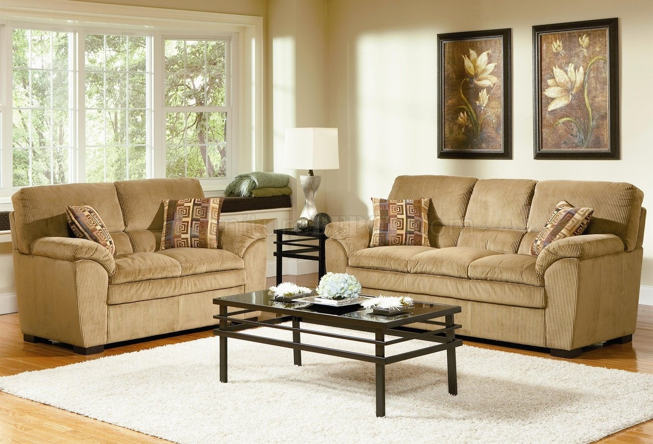 Corduroy Fabric Casual Living Room 502421 Camel Regarding Casual Sofas And Chairs (Image 7 of 15)